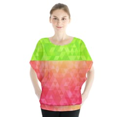 Colorful Abstract Triangles Pattern  Blouse