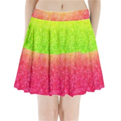 Colorful Abstract Triangles Pattern  Pleated Mini Skirt