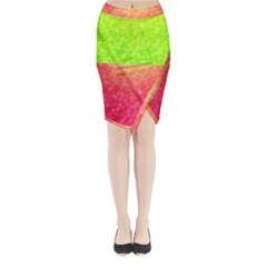 Colorful Abstract Triangles Pattern  Midi Wrap Pencil Skirt