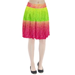 Colorful Abstract Triangles Pattern  Pleated Skirt