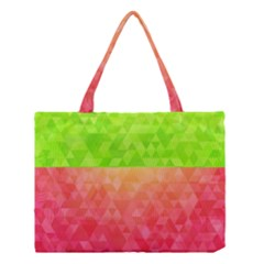 Colorful Abstract Triangles Pattern  Medium Tote Bag