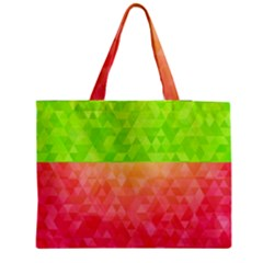 Colorful Abstract Triangles Pattern  Medium Zipper Tote Bag