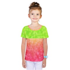 Colorful Abstract Triangles Pattern  Kids  One Piece Tee