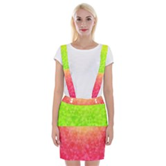 Colorful Abstract Triangles Pattern  Suspender Skirt