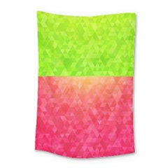 Colorful Abstract Triangles Pattern  Small Tapestry