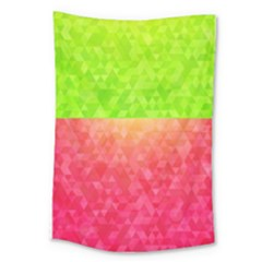 Colorful Abstract Triangles Pattern  Large Tapestry