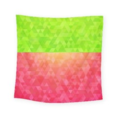 Colorful Abstract Triangles Pattern  Square Tapestry (small)