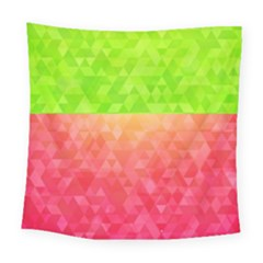 Colorful Abstract Triangles Pattern  Square Tapestry (large)