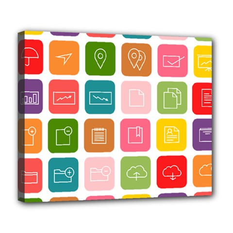 Icons Vector Deluxe Canvas 24  x 20