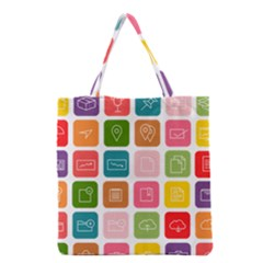 Icons Vector Grocery Tote Bag