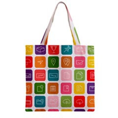Icons Vector Zipper Grocery Tote Bag