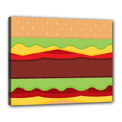 Vector Burger Time Background Canvas 20  X 16