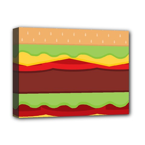 Vector Burger Time Background Deluxe Canvas 16  x 12