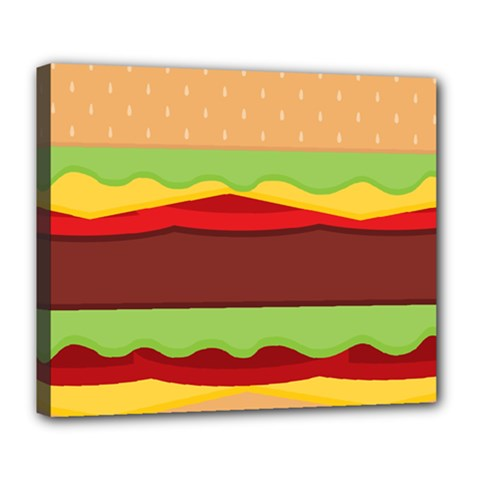 Vector Burger Time Background Deluxe Canvas 24  X 20