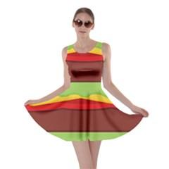 Vector Burger Time Background Skater Dress
