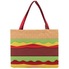 Vector Burger Time Background Mini Tote Bag