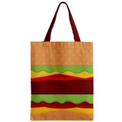 Vector Burger Time Background Classic Tote Bag