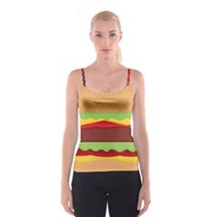 Vector Burger Time Background Spaghetti Strap Top