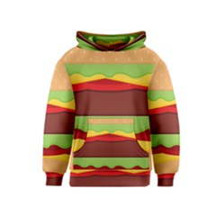 Vector Burger Time Background Kids  Pullover Hoodie