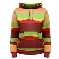 Vector Burger Time Background Women s Pullover Hoodie