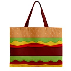 Vector Burger Time Background Zipper Mini Tote Bag