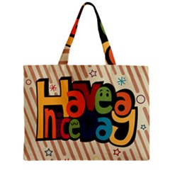 Have A Nice Happiness Happy Day Zipper Mini Tote Bag