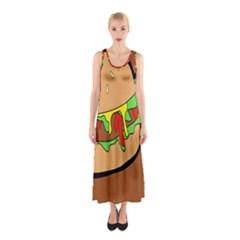 Burger Double Sleeveless Maxi Dress