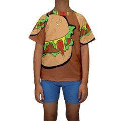 Burger Double Kids  Short Sleeve Swimwear