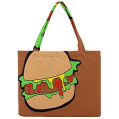 Burger Double Mini Tote Bag