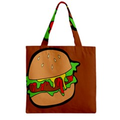Burger Double Zipper Grocery Tote Bag