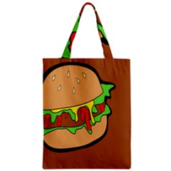 Burger Double Zipper Classic Tote Bag