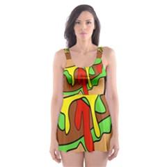 Burger Double Skater Dress Swimsuit