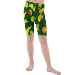 Seamless Tile Background Abstract Kids  Mid Length Swim Shorts