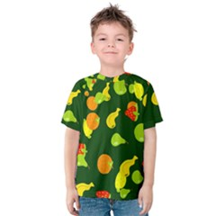 Seamless Tile Background Abstract Kids  Cotton Tee