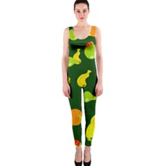 Seamless Tile Background Abstract OnePiece Catsuit