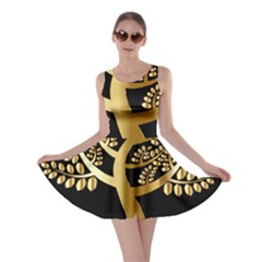Abstract Art Floral Forest Skater Dress