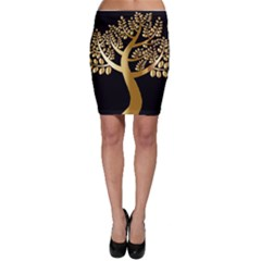 Abstract Art Floral Forest Bodycon Skirt