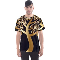 Abstract Art Floral Forest Men s Sport Mesh Tee