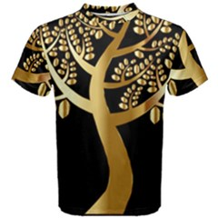 Abstract Art Floral Forest Men s Cotton Tee