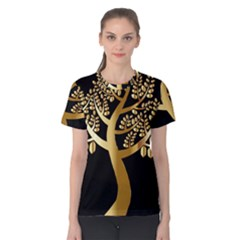 Abstract Art Floral Forest Women s Cotton Tee