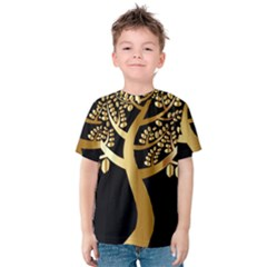 Abstract Art Floral Forest Kids  Cotton Tee