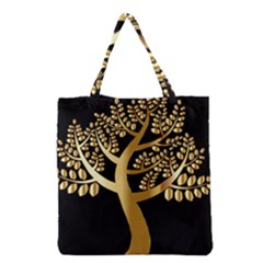 Abstract Art Floral Forest Grocery Tote Bag