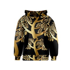 Abstract Art Floral Forest Kids  Pullover Hoodie