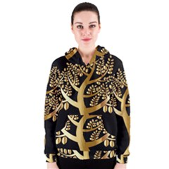 Abstract Art Floral Forest Women s Zipper Hoodie