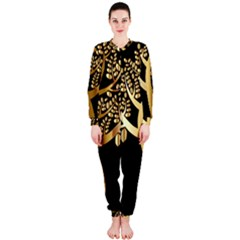Abstract Art Floral Forest OnePiece Jumpsuit (Ladies)