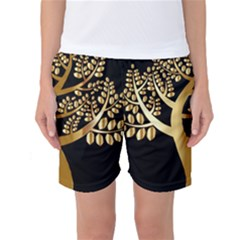 Abstract Art Floral Forest Women s Basketball Shorts