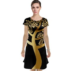 Abstract Art Floral Forest Cap Sleeve Nightdress