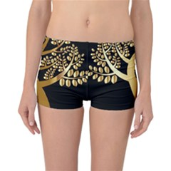 Abstract Art Floral Forest Reversible Bikini Bottoms