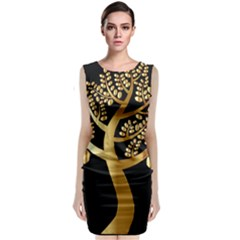 Abstract Art Floral Forest Classic Sleeveless Midi Dress