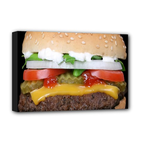 Abstract Barbeque Bbq Beauty Beef Deluxe Canvas 18  x 12